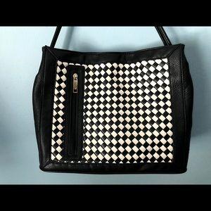 Samoe Handbag/Woven Leather Satchel Tote